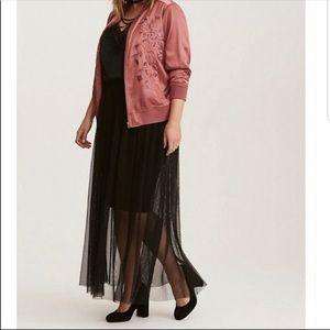 Torrid black mesh maxi skirt Sz 0 = Sz 12 Large